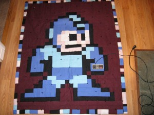 This is the second awesome videogame quilt picture I've run.  Please send more.