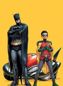 Dick Grayson and... Damian Wayne are Batman and Robin