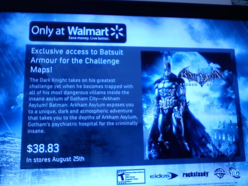 Wal-Mart tested lower pricing for the stellar Batman:AA in Canada